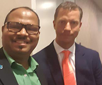 Vinod with Mr. JT Foxx, knows as World # 1 Wealth Coach and Serial Entrepreneur