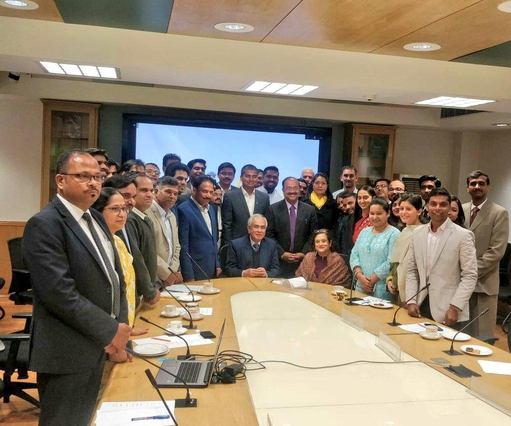 Vinod with AIM – NITI Aayog Team during his roundtable meeting to Janpath, Delhi