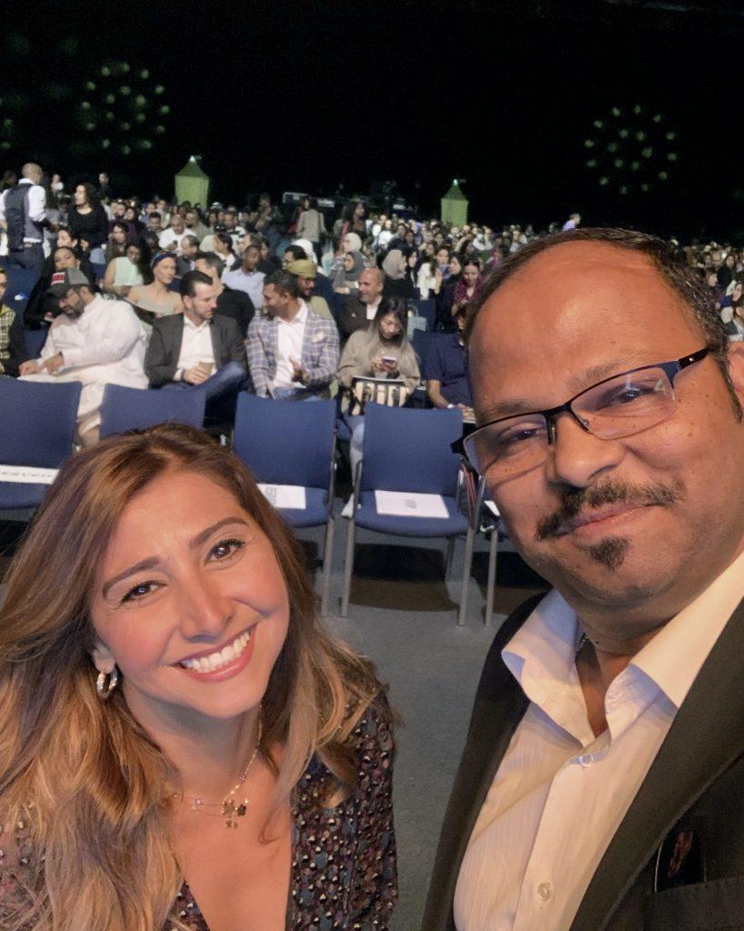 Vinod meeting with Ms. Awfa Mustafa, CEO and Founder of Najahi Events, Dubai