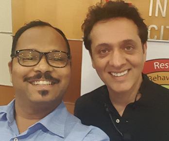 Vinod with Mr. Arfeen Khan, World renowned Peak Performance Strategist and Speaker