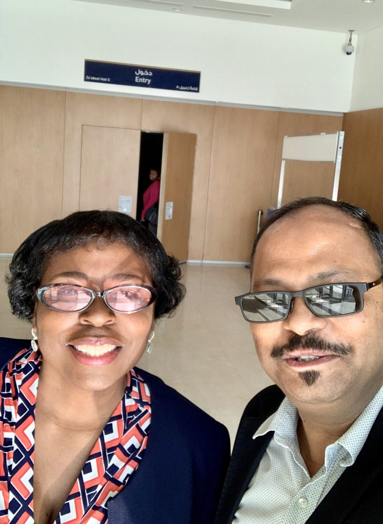 Vinod with Dr. Ona Brown, daughter of Les Brown, Most influential Speaker in America