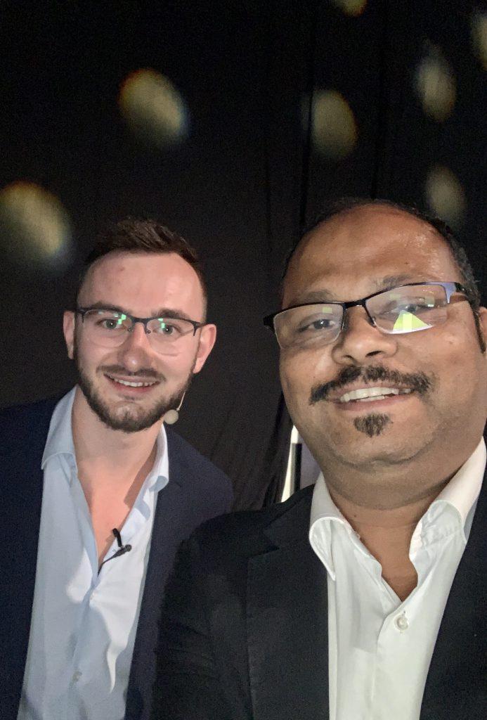Vinod with Jon Penberthy, Entrepreneur & Founder of Webinar Conversion Academy