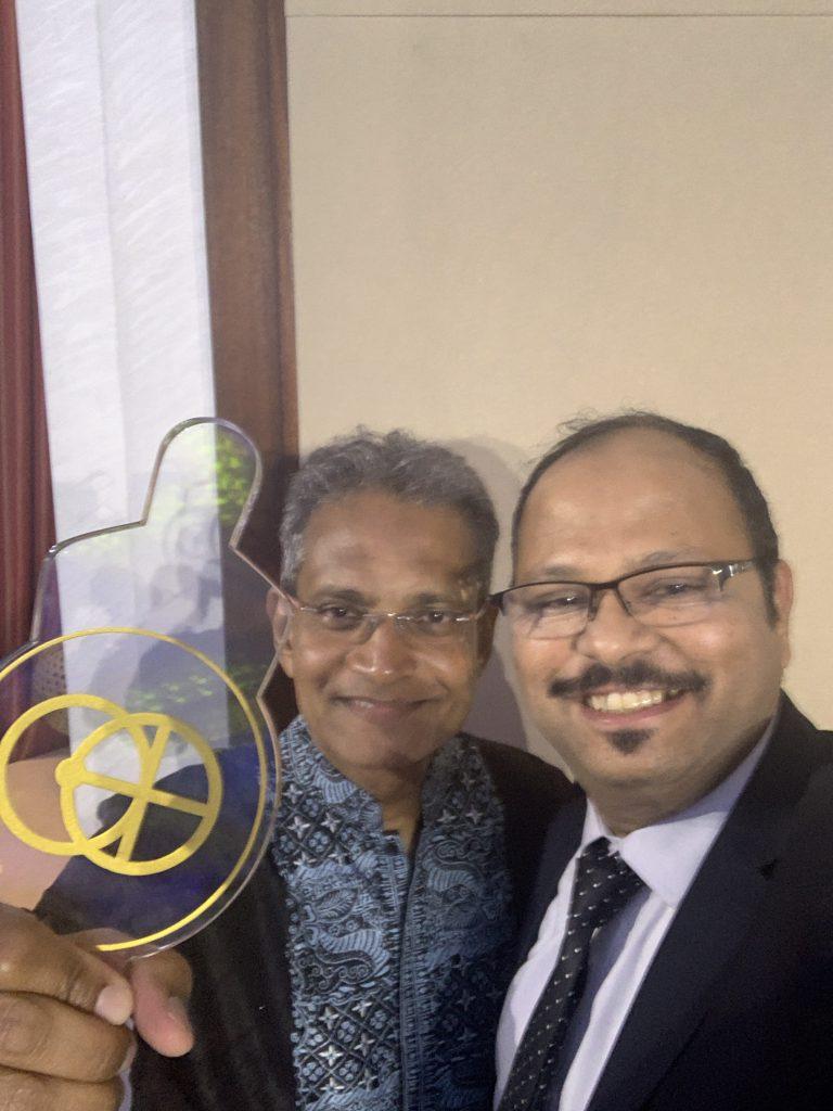 Vinod met Mr. Paddy Padmanathan, President and CEO ACWA Power at Abu Dhabi