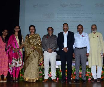 Vinod with Ganpat University, Gujarat Team during his Entrepreneurship talk