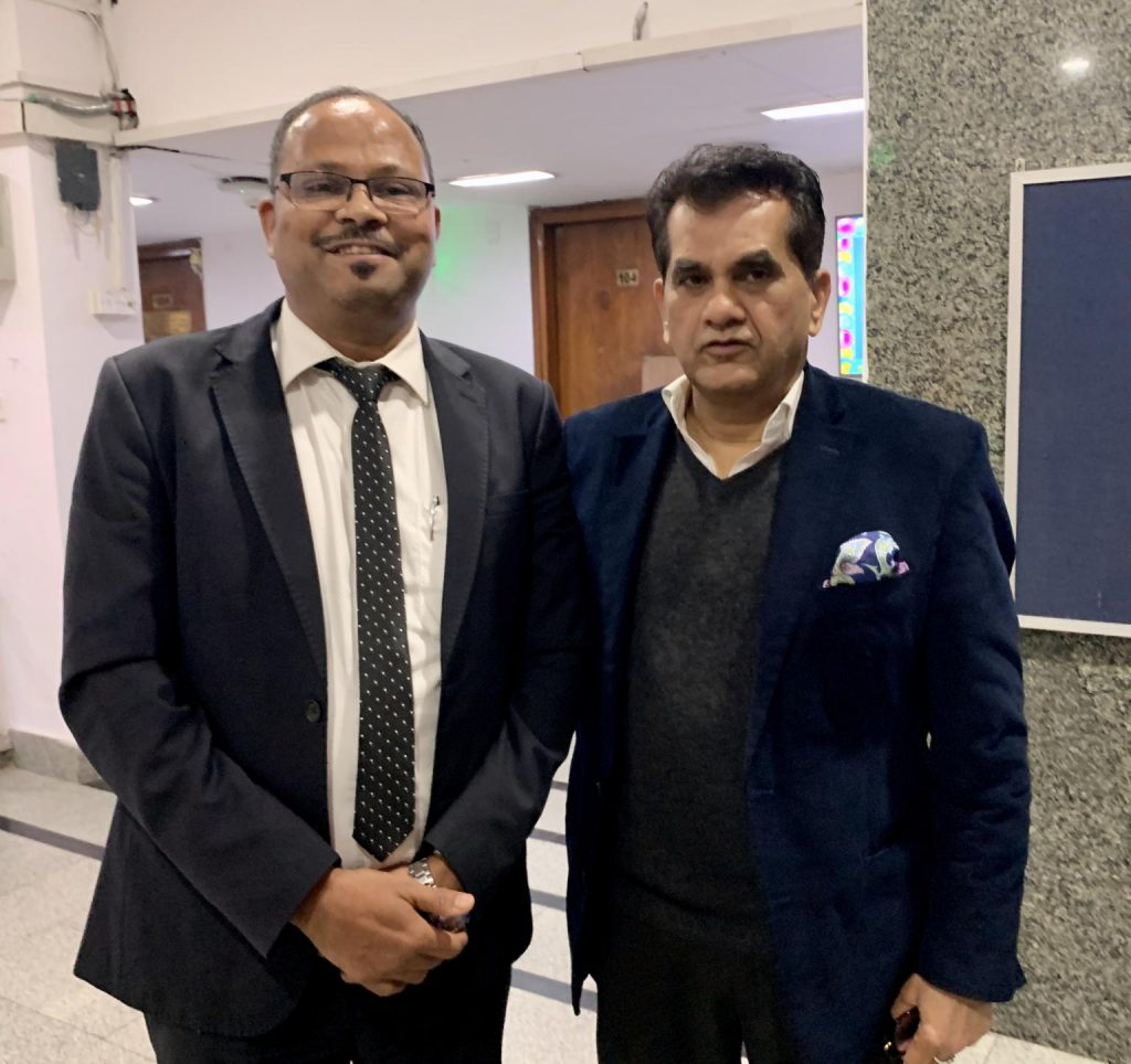 Vinod with Mr. Amitabh Kant, CEO-National Institute for Transforming India (NITI Aayog)