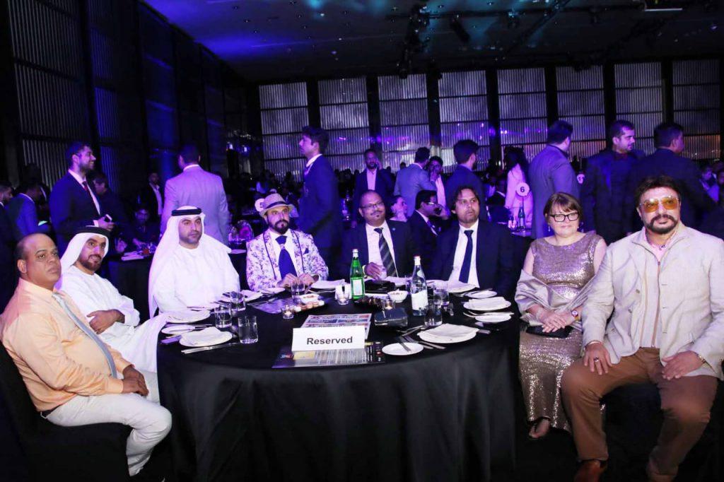 Vinod with VIP guests during nomination at IIEA SAWE Awards at Armani Hotel, Burj Khalifa