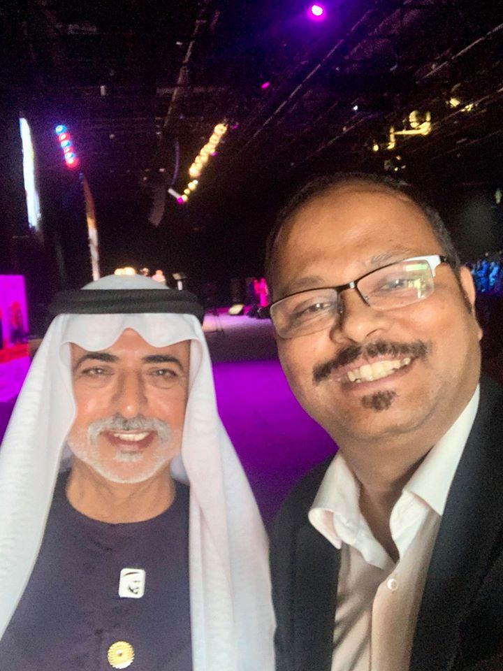 Vinod with HE Sheikh Nahyan bin Mubarak Al Nahyan, Minister of Culture, UAE