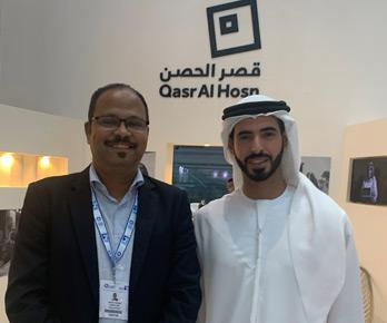 Vinod with HH Sheikh Sultan bin Khalifa Al Nahyan, Grandson of UAE President