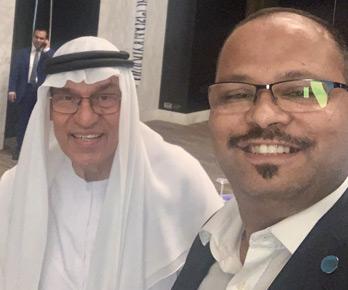 Vinod with Mr. Mohan Jashanmal, Multi-millionaire Indian businessman in UAE