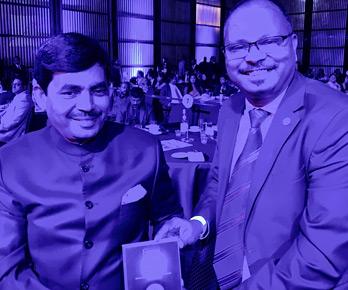 Vinod with Mr. Shahnawaz Hussain, former Cabinet Minister and BJP Spokesperson