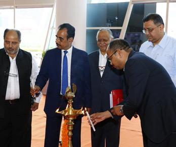 Vinod with Sri SJ Haider, Commissioner while inaugurating Mega Expo at Gujarat